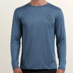 Men's Volcom Rashguard Blue Gray XL ANTI-UV SPF